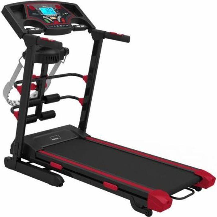 Tapis Roulant de course pliable Motorisé professionnel avec poids, ceinture de massage Linforeductor et connexions USB, MP3 et SD