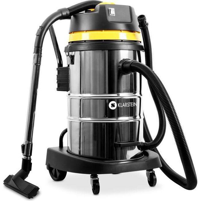 Klarstein IVC-50 - Aspirateur industriel pour eau et poussière tuyau 3m câble d'alimentation 8m + accessoires (50L, 2000W, filtre)