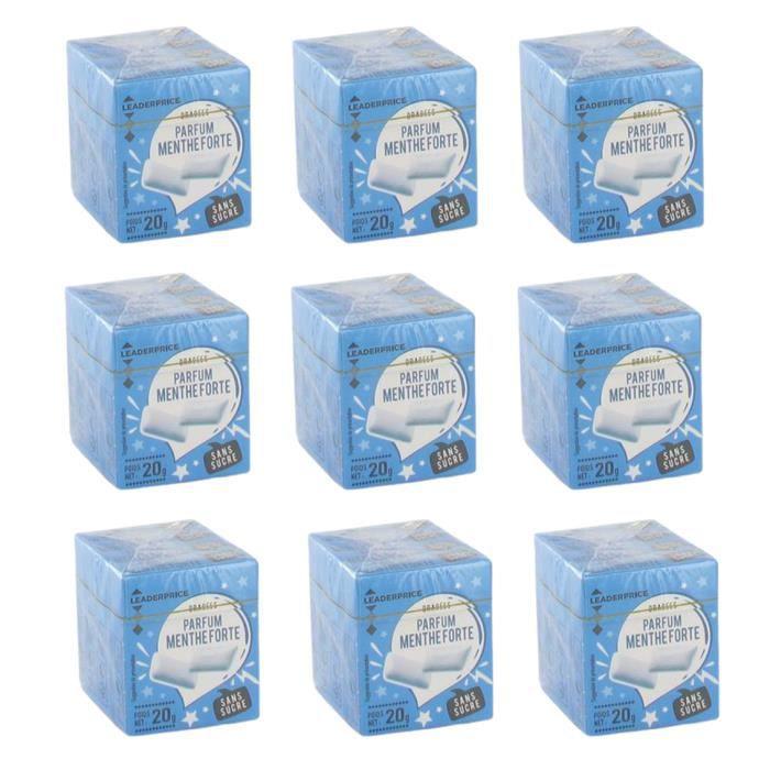 [Lot de 9] Dragées parfum menthe forte - 80g par paquet