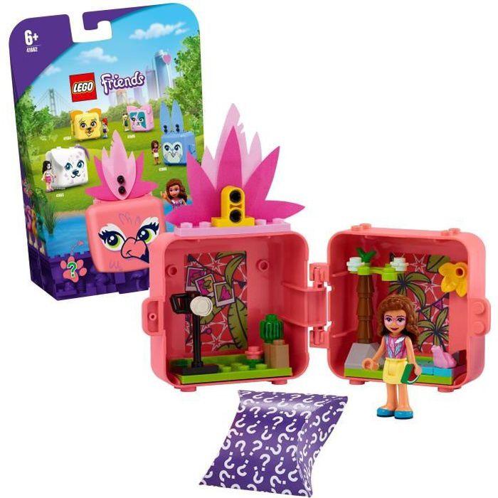 LEGO® Friends 41662 Le cube flamant rose d'Olivia Jouet sur le thème des animaux avec une figurine Olivia, décoration chambre