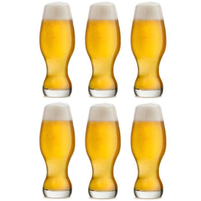 Libbey Verre à bière IPA (India Pale Ale) - Craftbeer - 48 cl ou 480 ml - lot de 6 - lavable au lave-vaisselle - qualité supérieure