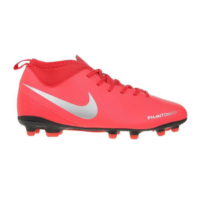 NIKE Chaussures de football Phantom VSN Club DF FG et MG - Enfant - Rouge