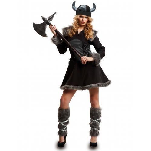 Déguisement viking noire femme