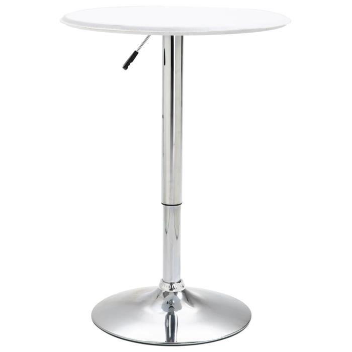Table de bar Table à dîner Blanc Ø60 CM MDF