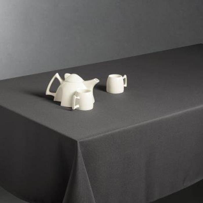 Nappe anti taches rectangulaire Gris foncé, 150 x 300 cm