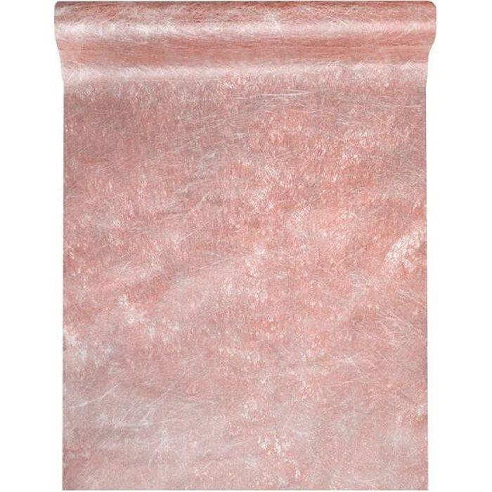 R/3431 - 1 Chemin de table fanon rose gold métallisé x 5m