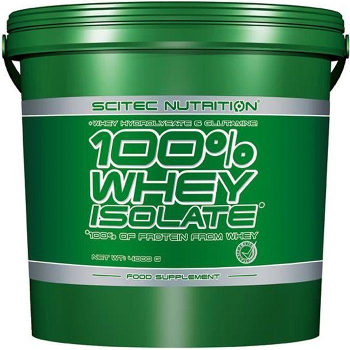 100% Whey Isolate 4000 gr chocolat Scitec Proteine