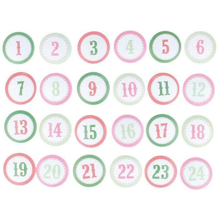 Image Calendrier De L Avent.24 Chiffres En Bois Pour Calendrier De L Avent Home Sweet Home