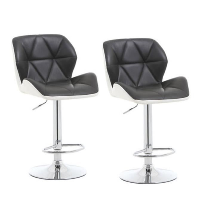 Tabouret de bar lot de 2, Tabouret de bar design, Chaise de Bar Noir Blanc efd3b79744b3