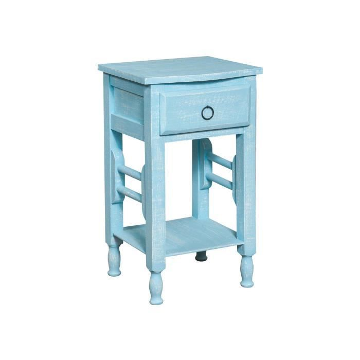 Table de chevet shabby achat vente table de chevet for Table de chevet bois massif