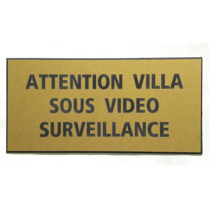 Plaque grav/ée Alarme et Video Surveillance 10cm x 5cm