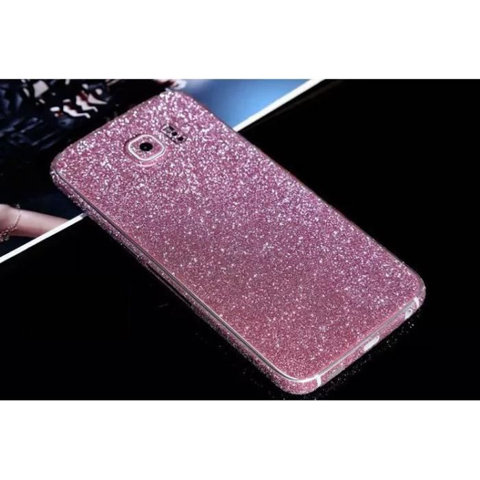 stickers rose samsung galaxy s6 edge strass bling diamond. Black Bedroom Furniture Sets. Home Design Ideas