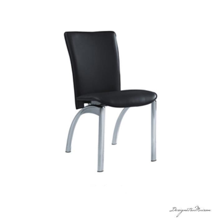 Chaise salle manger achat vente chaise cuir cdiscount for Chaises fauteuils salle a manger
