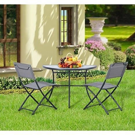 salon de jardin table de balcon demi lune 2 chaise achat vente salon de jardin salon de. Black Bedroom Furniture Sets. Home Design Ideas