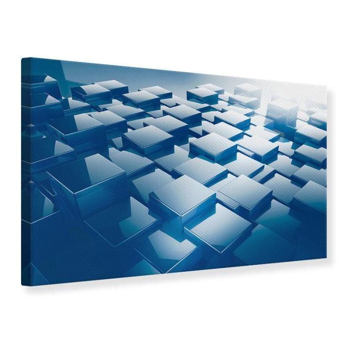 Tableau Sur Toile Cubes En 3d 60 X 40 Cm Achat Vente Tableau Toile Cdiscount