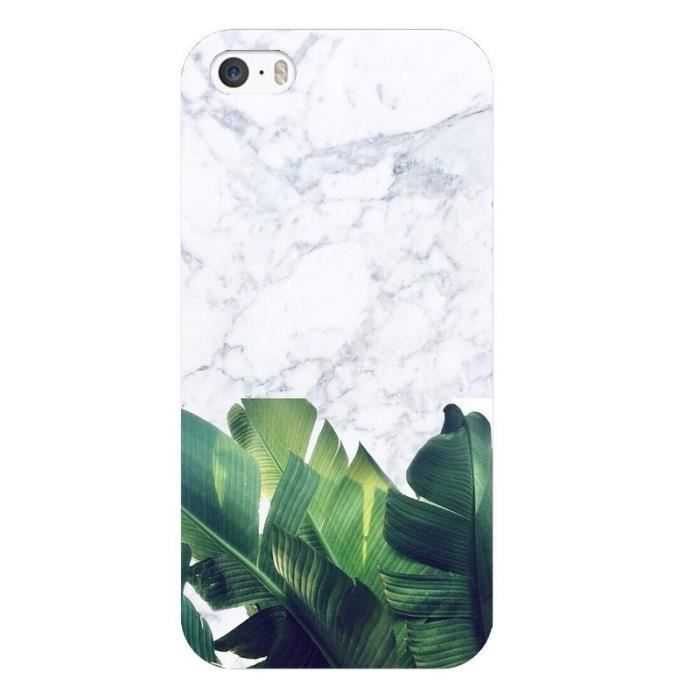 Coque Iphone 6 PLUS Marbre blanc jungle tropical