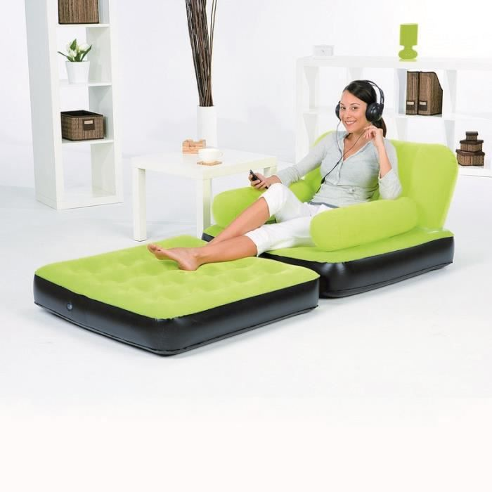 fauteuil gonflable convertible bestway vert achat. Black Bedroom Furniture Sets. Home Design Ideas