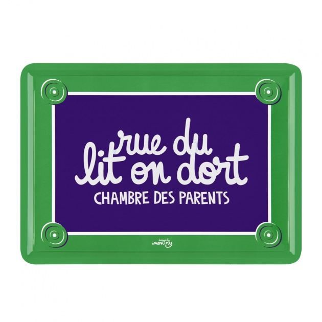 plaque de porte rue du lit on dort dlp achat vente plaque de porte m tal soldes cdiscount. Black Bedroom Furniture Sets. Home Design Ideas