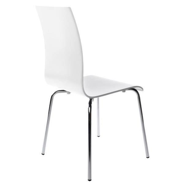 CHAISE CLASSIC - Chaise de cuisine en bois peint blanc