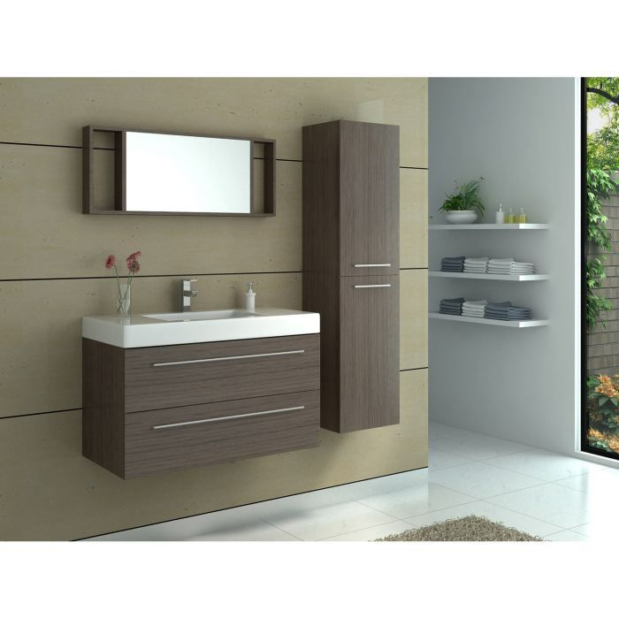 meuble de salle de bain simple vasque caf achat vente salle de bain complete meuble de. Black Bedroom Furniture Sets. Home Design Ideas