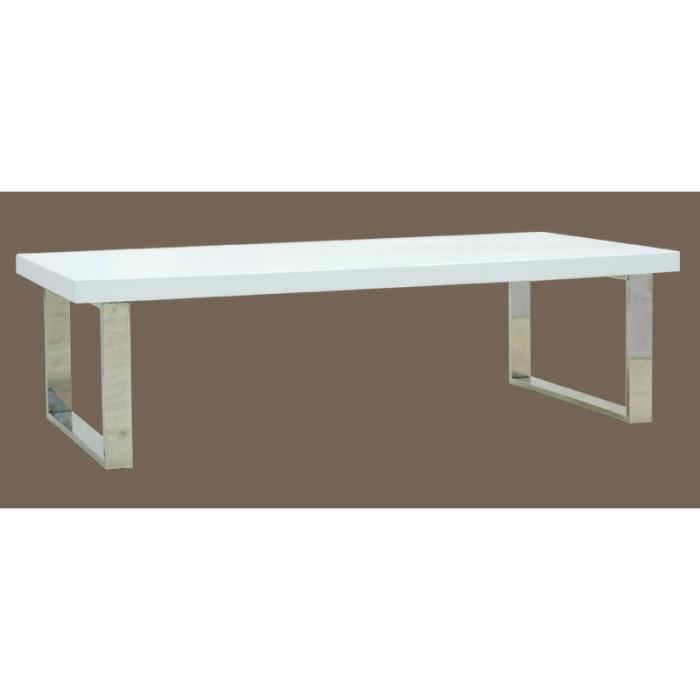 Table basse design rectangulaire blanc achat vente - Table basse rectangulaire design ...