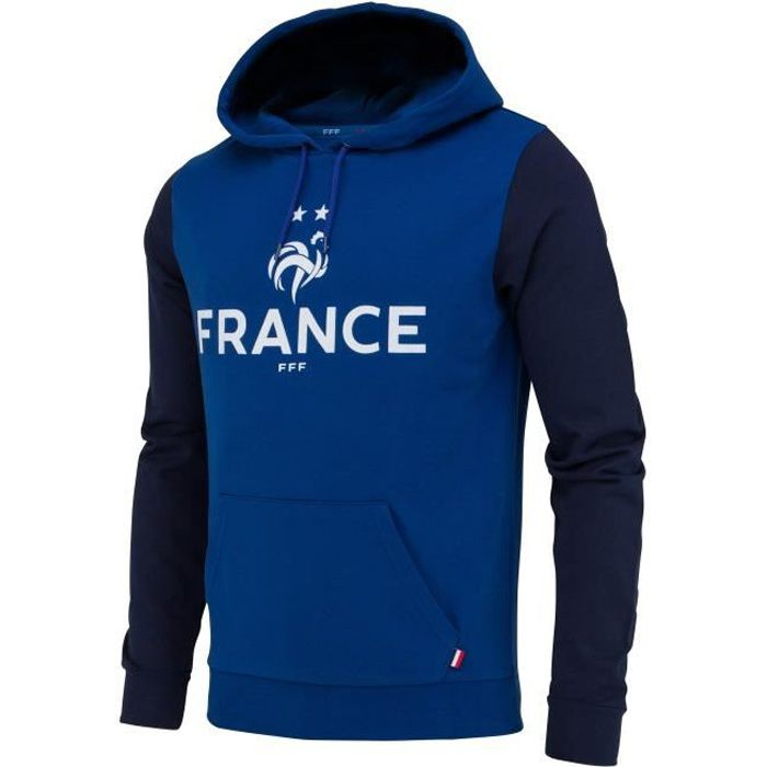 Collection Officielle Taille Adulte Homme Equipe de FRANCE de football Sweat Capuche FFF