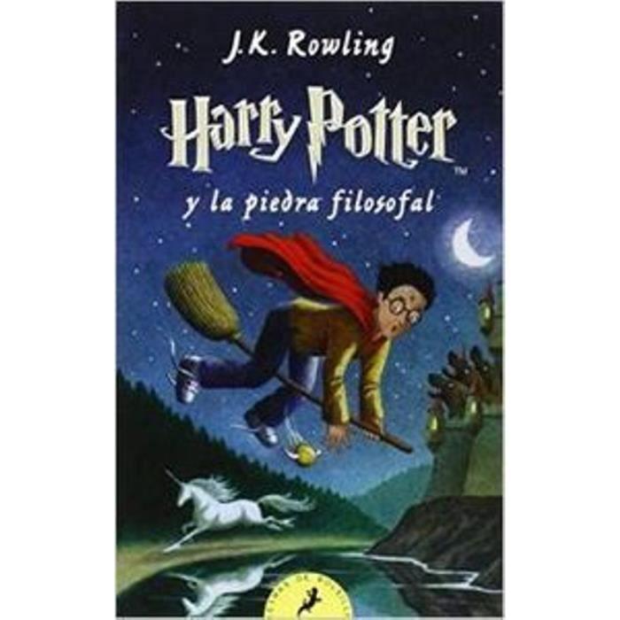 Livre En Espagnol 82 1 Harry Potter Y La Piedra Filosofal Letras De Bolsillo