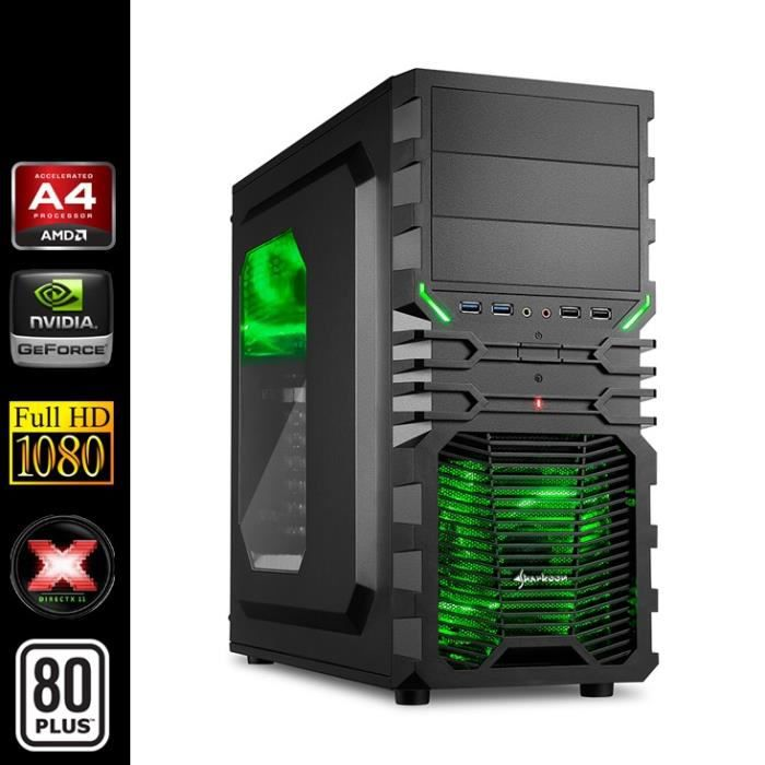 pc gamer amd a4 2x3 4ghz gt730 4go ram ssd prix pas cher cdiscount. Black Bedroom Furniture Sets. Home Design Ideas