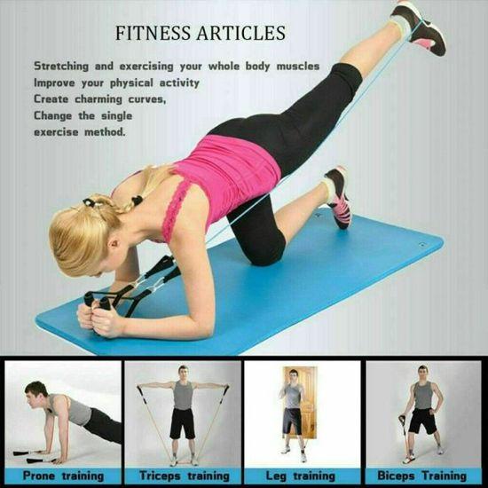 11x Bande de Resistance Bande Elastique Fitness Homme Femme Musculation Yoga