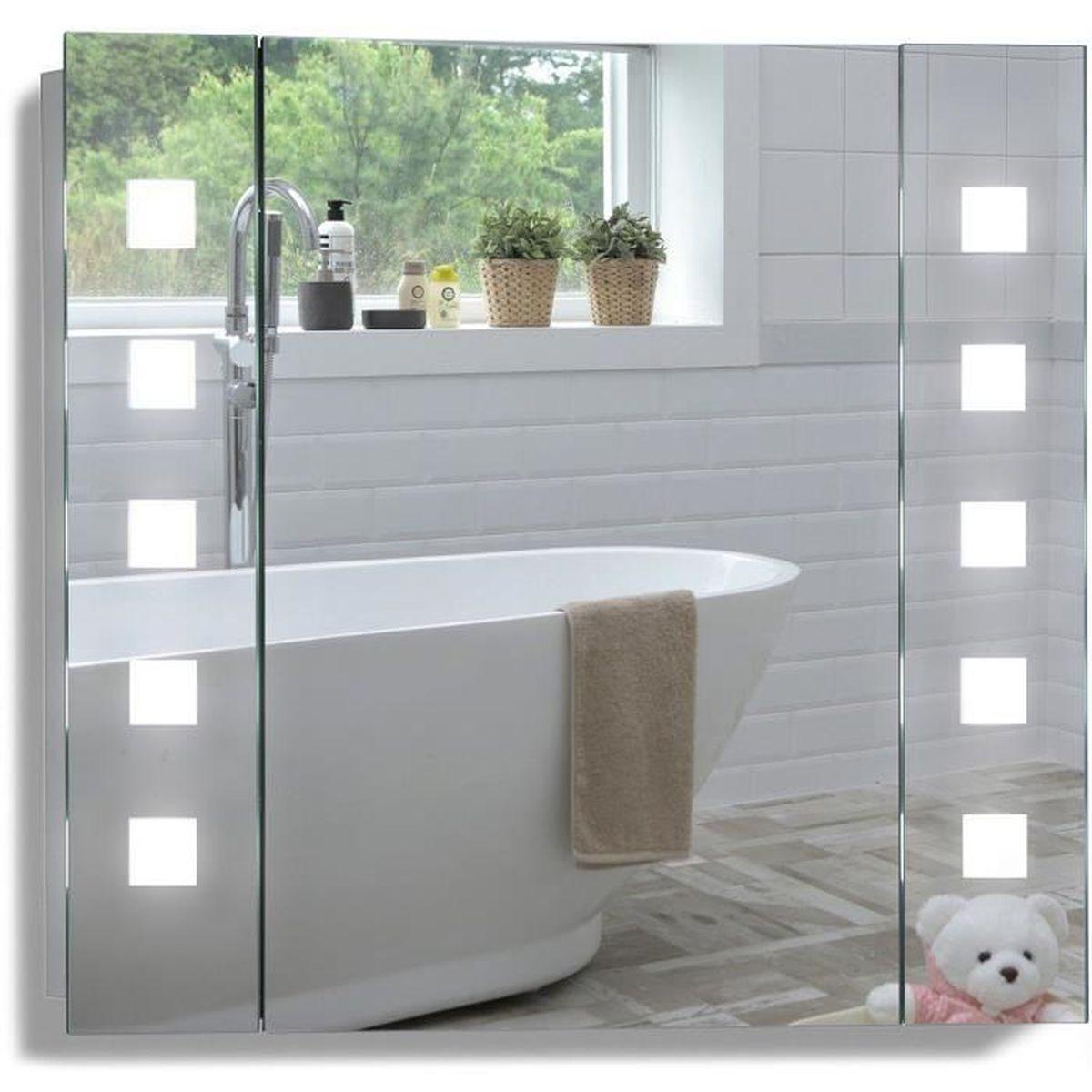 Meuble Haut Salle De Bain Avec Miroir armoire lumineuse salle de bain