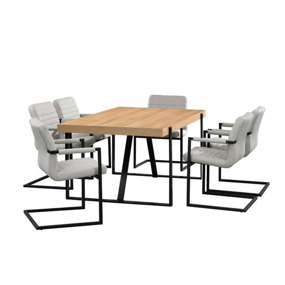 table a manger 6 chaises. Black Bedroom Furniture Sets. Home Design Ideas