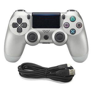 MANETTE JEUX VIDÉO  PS4 Playstation Câblé Manette de Jeu (argent)