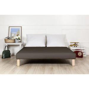 SOMMIER sommier tapissier 120x190 marron fabrication franç