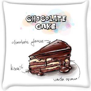 Tranche De Gateau Au Chocolat Dessin Aquarelle Illustration De