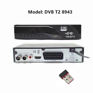 RÉCEPTEUR - DÉCODEUR   HD1080p DVB T2 décodeur prise en charge YouTube H.