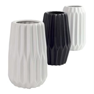 vase noir et blanc achat vente vase noir et blanc pas cher cdiscount. Black Bedroom Furniture Sets. Home Design Ideas