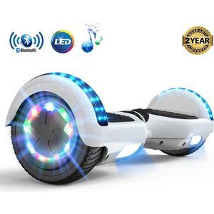 ACCESSOIRES GYROPODE - HOVERBOARD 2WD Scooter 2 Roues Blanc Auto-équilibre 6,5 pouce