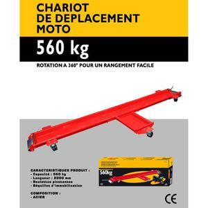 Chariot Roulant pour Moto Jusqu/'/à 1250lbs Chariot de D/éplacement Moto Chariot de Motocyclette D/éplacement Moto Outils pour B/équille dAtelier Rouge