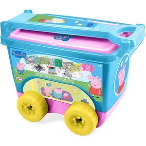 JEU DE COLORIAGE - DESSIN - POCHOIR PEPPA PIG Mon chariot créatif