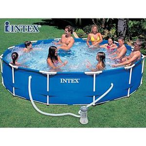 PISCINE Kit piscine tubulaire Intex METAL FRAME &Oslash…