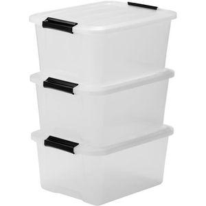 BOITE DE RANGEMENT IRIS OHYAMA Lot de 3 boîtes de rangement Top Box T