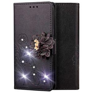 Saceebe Compatible avec Samsung Galaxy A20e Coque Cuir Etui Pochette Portefeuille Housse /à Rabat Brillante Glitter Paillette Diamant Papillon Fleur Motif Flip Case Magn/étique,Or Rose