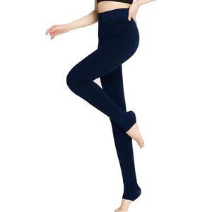 Kendindza leggings thermiques pour femmes effet jeans style doublure int/érieure en polaire Basicque Opaque