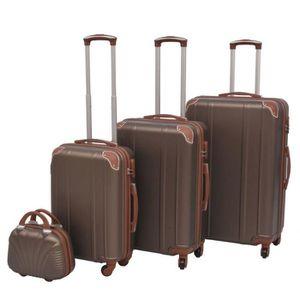 SET DE VALISES Ensemble de valises à roulettes quatre pièces coul