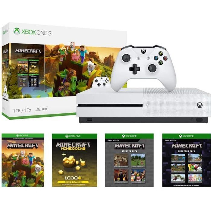 Xbox One S 1 To + Minecraft Master Collection