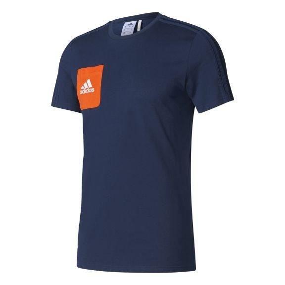 ADIDAS Tiro 17 T-shirt - Bleu foncé / Orange / Blanc