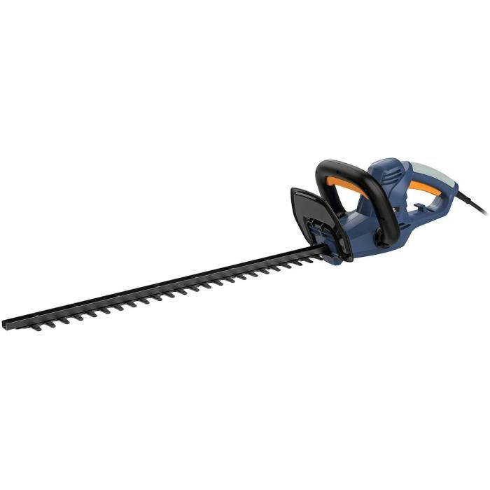 Tailles Haies Électriques 600W BLUE RIDGE BR8202【Lame en Acier: 65.5cm, Coupe Double: 60cm】Poignée Rotative Anti-Vibration, Blocage