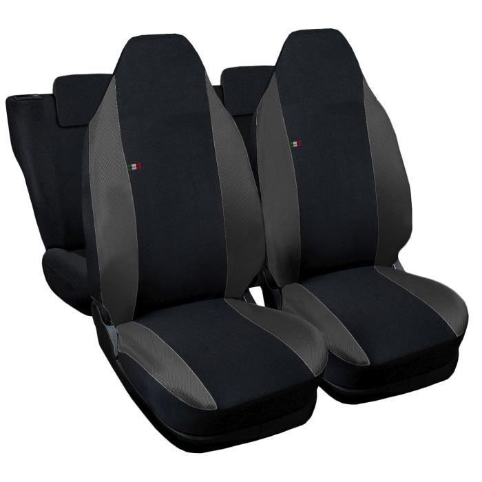 Housses de siège deux-colorés pour Aygo - noir gris foncè