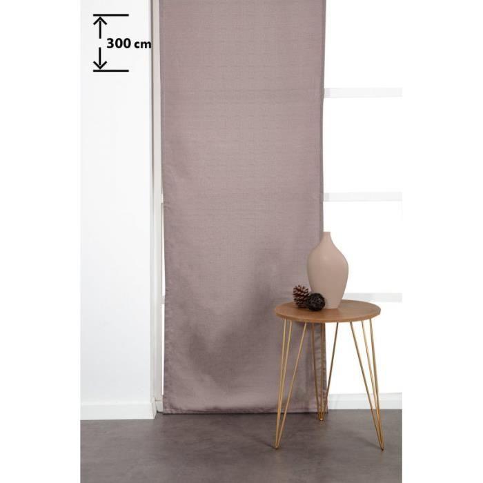 Panneau Japonnais 60 x 300 cm à Scratch Grande Hauteur Tramé Uni Brun