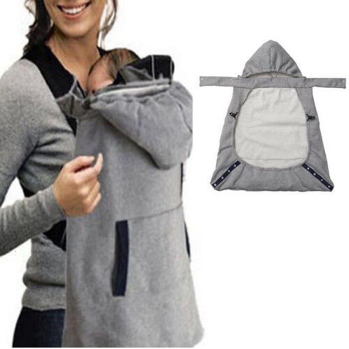 Sac à dos confortable pour nouveau-né, couverture chaude et stable, avec poche, cape, Face à face, écharpe de portage [3C58F27]